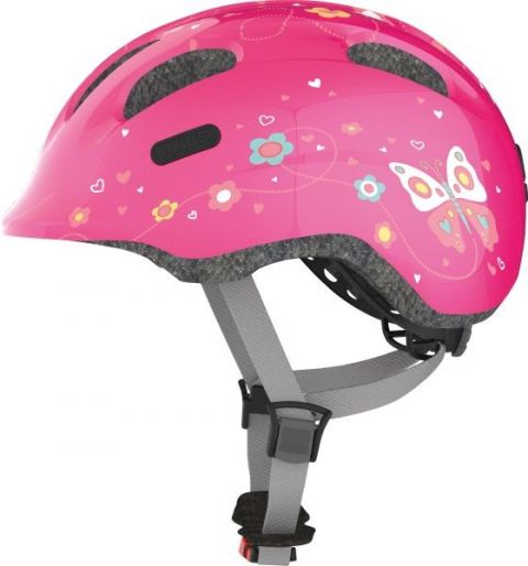 Abus cykelhjelm Smiley 2.0 Pink Butterfly