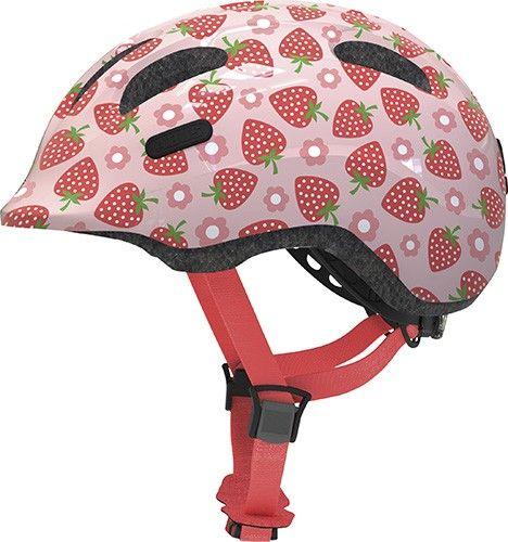 Abus cykelhjelm Smiley 2.1 Rose Strawberry