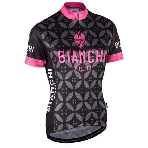 Bianchi dame jersey - Malgina Sort/pink