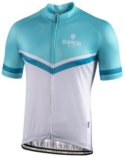 Bianchi Jersey Ollastu - Celeste-Hvid