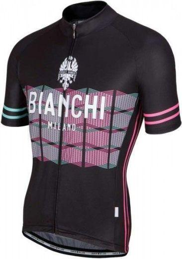 Bianchi Jersey Suviana - Str. L - Sort Cykeltrøje