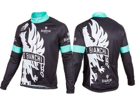 Bianchi langærmet Jersey - Sort/celeste
