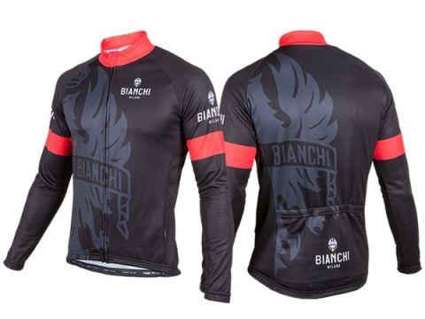 Bianchi langærmet Jersey - Sort/rød
