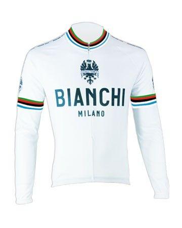 Bianchi langærmet Jersey Leggenda - Hvid