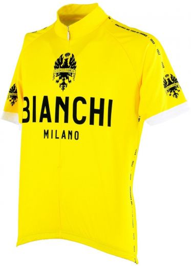 Bianchi Retro cykeltrøje Gul - Jersey