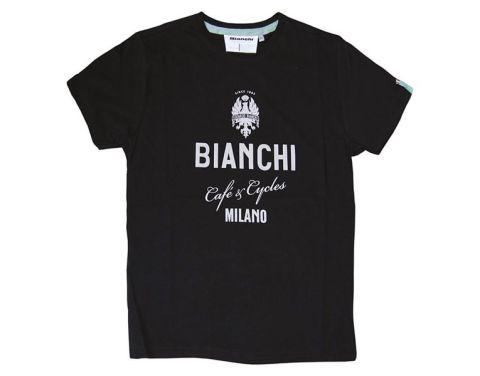 Bianchi T-shirt Cafe & Cycles - Sort