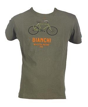Bianchi T-shirt Military Bike - Grøn