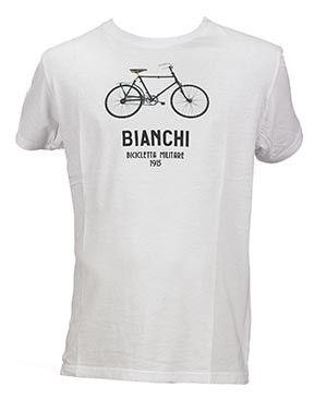 Bianchi T-shirt Military Bike - Hvid