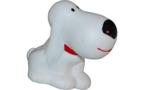 Cykelhorn med hvid hund