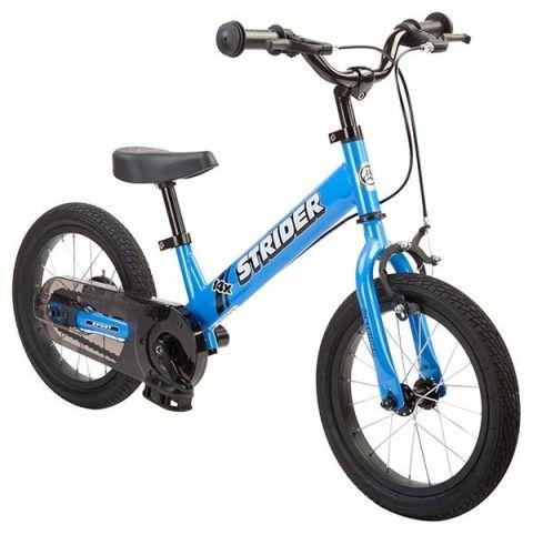Løbecykel med pedalkit 2 i 1 cykel - Blå - Strider 14x