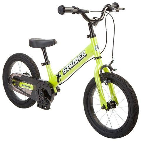 Løbecykel med pedalkit 2 i 1 cykel - Grøn - Strider 14x