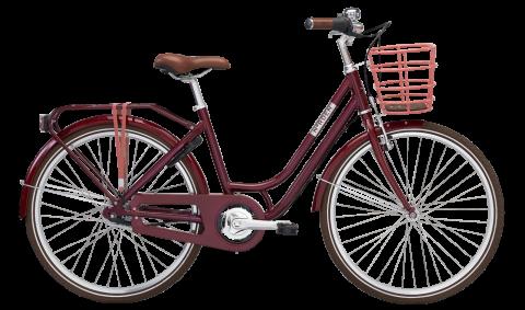 "Norden Clara  pigecykel - 26"" - Vinrød"