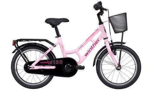 "Winther 150 Alu 16"" Mat Pink Pigecykel"